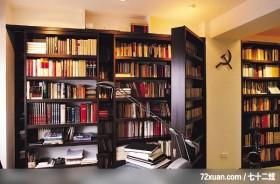 觐得_72_北市木栅,觐得空间设计,游淑慧,书房,双层书柜,书柜,独创设计,阅读区,