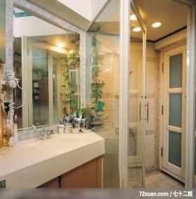 觐得_73,云邑室内设计,李中霖,浴室,洗脸台面,干湿分离隔间,收纳柜,
