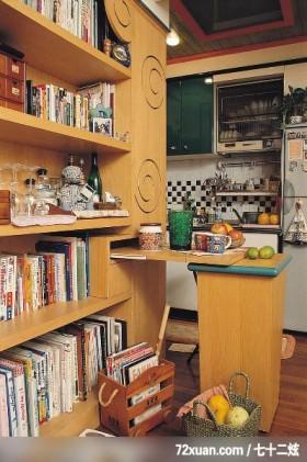 觐得_73,云邑室内设计,李中霖,厨房,流理台主墙,造型天花板,收纳柜,书柜,独创设计,