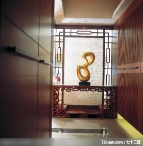 混搭的空间美感,东易日盛CBD工作室,唐伟,玄关,矮柜,隔屏,收纳鞋柜,造型地板,造型天花板,