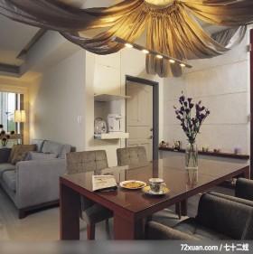 时尚简约客房,觐得空间设计,游淑慧,餐厅,电器收纳柜,造型主墙,造型天花板,造型灯光,