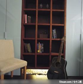 时尚简约客房,觐得空间设计,游淑慧,多功能室,书柜,收纳柜,