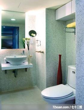 兼具创意与实用的简洁时尚风格,龙发,卢成峰,浴室,洗脸台面,收纳柜,造型天花板,用品架,