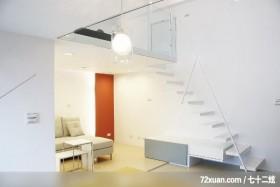 现代空间风格,春雨时尚空间设计,周建志,客厅,造型楼梯,楼梯收纳柜,穿透设计,