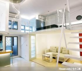 现代空间风格,春雨时尚空间设计,周建志,客厅,挑高设计,展示柜,造型楼梯,造型灯光,穿透设计,