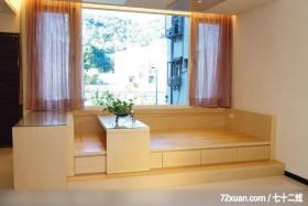 客厅,观景窗,观景沙发座,收纳柜,垫高地板,