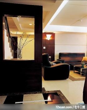居邑_06,觐得空间设计,游淑慧,玄关,造型楼梯,造型天花板,造型沙发背墙,隔屏,造型地板,