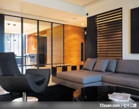 超酷的简约现代家居,东易日盛亚奥工作室,沈戴华,客厅,穿透设计,造型沙发背墙,卧榻,造型天花板,