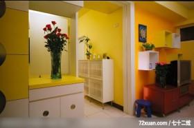 简洁而不失功能的装潢风格,龙发,王晶,客厅,造型电视主墙,电视柜,穿透设计,