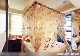 打造梦幻般的家,觐得空间设计,游淑慧,卧室,造型床组,造型天花板,化妆台,穿衣镜,