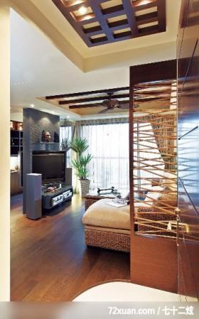 打造梦幻般的家,觐得空间设计,游淑慧,客厅,隔屏,造型电视主墙,视听柜,阳台落地窗,造型天花板,