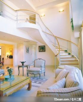 居邑_07,云邑室内设计,李中霖,客厅,造型楼梯,挑高设计,造型天花板,冷气摆放设计,