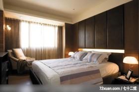 奢华现代风,龙发,殷勇,卧室,造型主墙,造型天花板,阳台落地窗,床头柜,