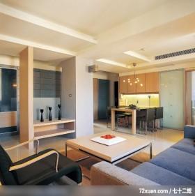复合设计解决空间难题,龙发,董文斌,客厅,电视柜,视听柜,拉门,餐具收纳柜,冷气摆放设计,