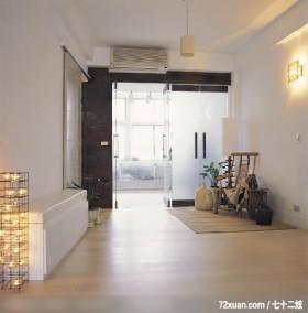展现一室清朗与舒适,摩登雅舍室内装修,蓝永峻,走道,穿鞋椅,收纳鞋柜,穿透设计,冷气摆放设计,