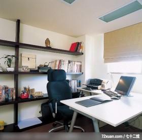 小空间中要营造渡假风情境,北京上尚格室内设计有限公司,张永雷,书房,书柜,阅读区,造型天花板,