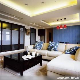 易居_04_新竹,权释设计,洪韡华,客厅,拉门,造型灯光,造型天花板,造型主墙,无隔间设计,
