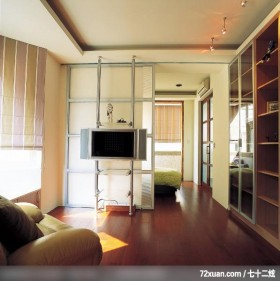 盈满自然绿意的生活舞台,龙发,董志雄,卧室,造型电视主墙,展示柜,造型天花板,冷气摆放设计,