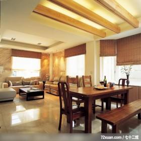 盈满自然绿意的生活舞台,龙发,董志雄,客厅,造型天花板,造型窗,无隔间设计,