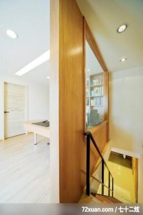 全盘改造新居,观林室内设计工程,黄传林,楼梯间,穿透设计,阅读区,造型天花板,造型楼梯,