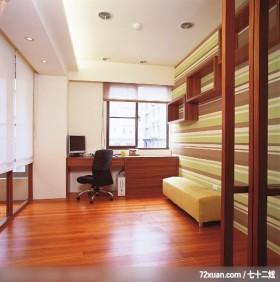 易居_05_新竹,春雨时尚空间设计,周建志,书房,书桌,造型天花板,展示柜,