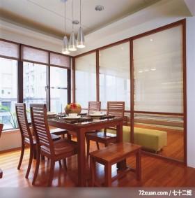 易居_05_新竹,春雨时尚空间设计,周建志,餐厅,造型灯光,造型天花板,穿透设计,
