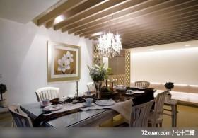 媒体人偏爱的美式乡村风,龙发,殷实,餐厅,造型天花板,造型主墙,造型灯光,