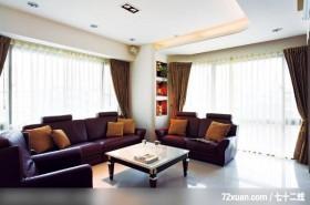 春雨_23_北市,觐得空间设计,游淑慧,客厅,阳台落地窗,造型天花板,展示柜,