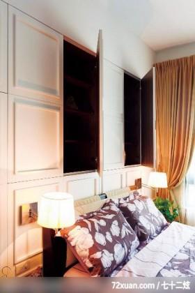 春雨_23_北市,觐得空间设计,游淑慧,卧室,收纳柜,造型主墙,
