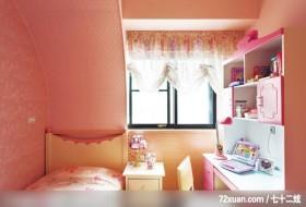 春雨_23_北市,觐得空间设计,游淑慧,儿童房,床头柜,阅读区,造型主墙,