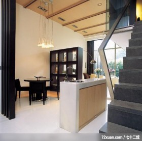 空间设计的精髓,北京泰吉伟邦设计公司,马豪,餐厅,收纳柜,岛型吧台,造型天花板,展示柜,造型楼梯,