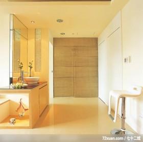简洁是一种自信,东易日盛CBD工作室,李文剑,走道,隐藏门,整衣镜,洗脸台面,