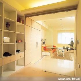 简洁是一种自信,东易日盛CBD工作室,李文剑,书房,收纳柜,书柜,玻璃隔间,造型天花板,