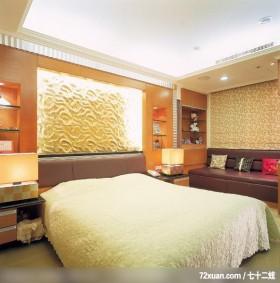 实用为本舒适为怀,龙发,卢成峰,卧室,造型主墙,展示柜,造型天花板,床头柜,穿透设计,卧塌,