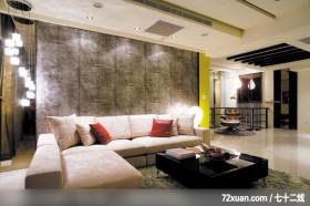 青田苑_16_北县三重,权释设计,洪韡华,客厅,造型沙发背墙,冷气摆放设计,造型天花板,造型灯光,