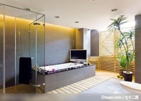 雅士_05_ 北县汐止,艺堂室内设计,李燕堂,浴室,汤屋,电视墙,干湿分离隔间,