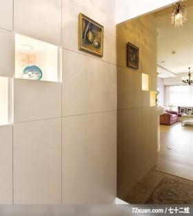 让人羡慕的美式简约家居,龙发,卢成峰,玄关,展示柜,整衣镜,造型地板,