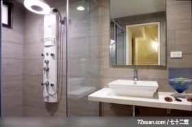 富丽宅第,东易日盛亚奥工作室,张岭,浴室,干湿分离隔间,洗脸台面,