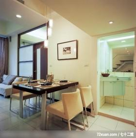 暐达_19,墨比雅设计团队,王思文,餐厅,洗脸台面,收纳柜,穿透设计,造型天花板,造型灯光,