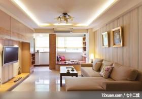 淑女最爱的典雅乡村风,北京上尚格室内设计有限公司,张永雷,客厅,冷气摆放设计,造型天花板,造型电视主