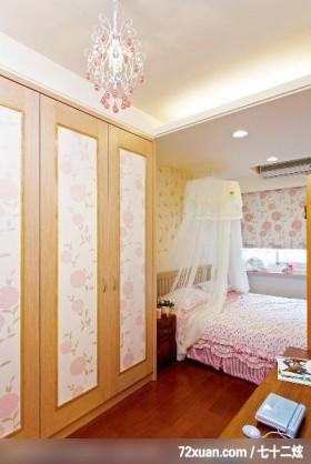 淑女最爱的典雅乡村风,北京上尚格室内设计有限公司,张永雷,卧室,造型衣柜,冷气摆放设计,床头柜,化妆