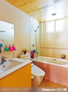 淑女最爱的典雅乡村风,北京上尚格室内设计有限公司,张永雷,浴室,造型拼贴主墙,洗脸台面,收纳柜,造型