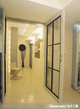 独特居家风格,云邑室内设计,李中霖,玄关,穿透设计,收纳鞋柜,造型天花板,