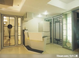 独特居家风格,云邑室内设计,李中霖,厨房,穿透设计,拉门,造型天花板,展示柜,隔间吧台,