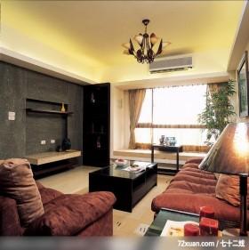 日式风格,龙发,董文斌,客厅,造型电视主墙,造型天花板,冷气摆放设计,展示柜,观景沙发座,