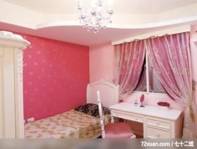 贵族女用白色巧妙打造灵动居室,东易日盛CBD工作室,刘绍军,儿童房,阅读区,造型天花板,造型床组,