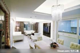 贵族女用白色巧妙打造灵动居室,东易日盛CBD工作室,刘绍军,餐厅,造型电视主墙,造型天花板,造型灯光