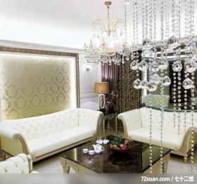 贵族女用白色巧妙打造灵动居室,东易日盛CBD工作室,刘绍军,客厅,造型沙发背墙,造型灯光,