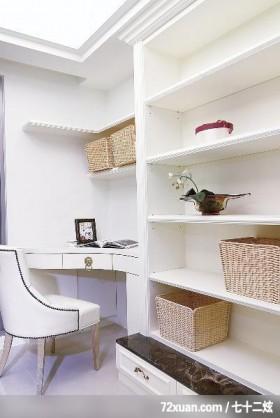 贵族女用白色巧妙打造灵动居室,东易日盛CBD工作室,刘绍军,卧室,收纳柜,化妆台,收纳层板,