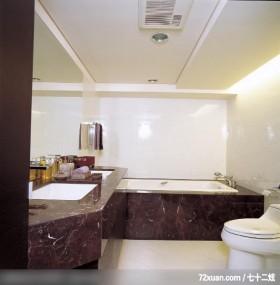 IS_64_北市,观林室内设计工程,黄传林,浴室,造型天花板,洗脸台面,用品架,